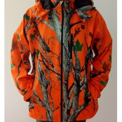 Jacket / Orange Camo Coat for Hunting / Fishing / Mountain
